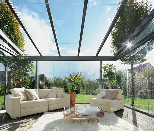 Coperture in alluminio e tessuto finart serramenti - Coperture per giardini ...